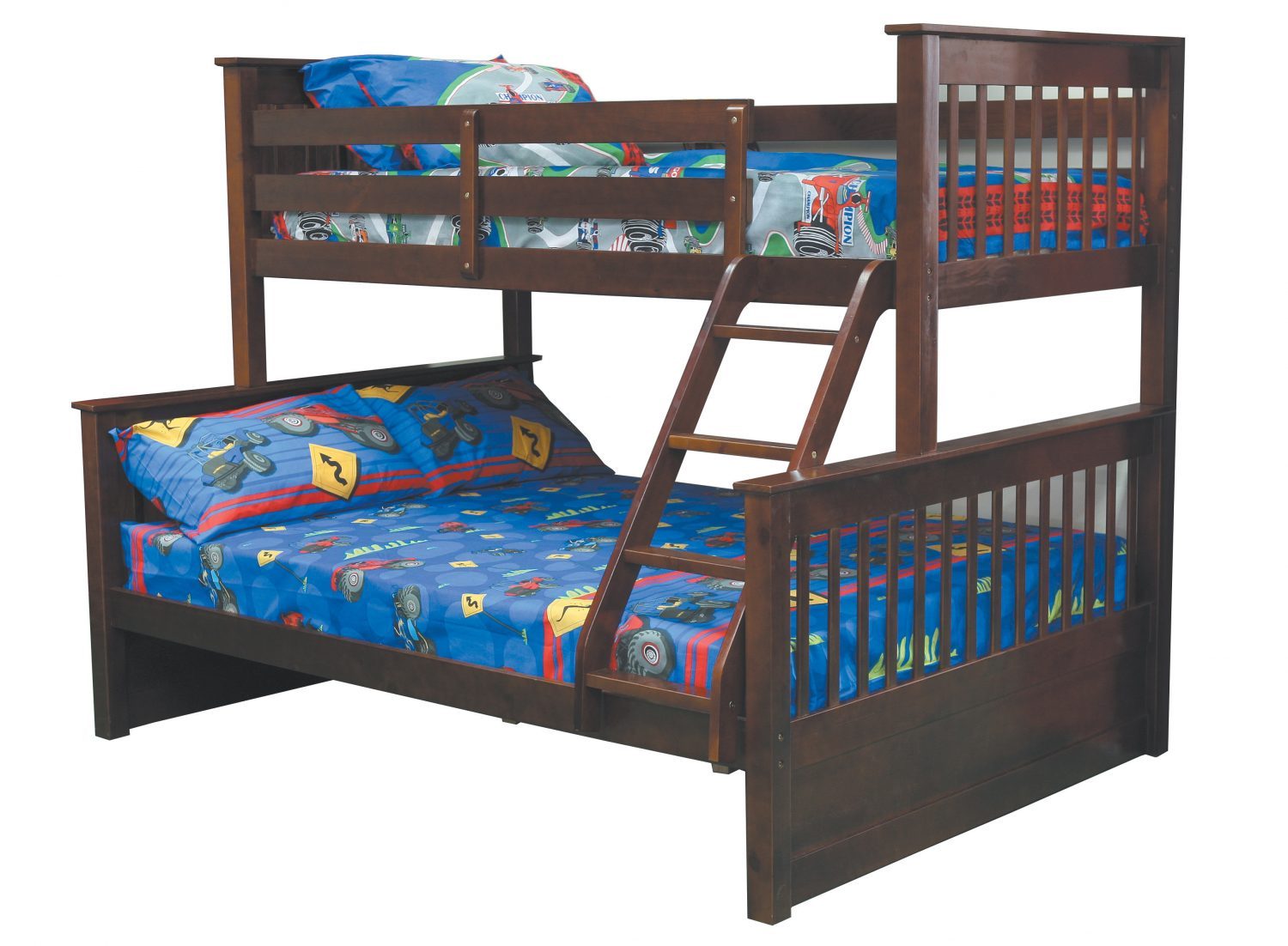 Terrance Twin Bunk With Free Double Innerspring Mattress Pine