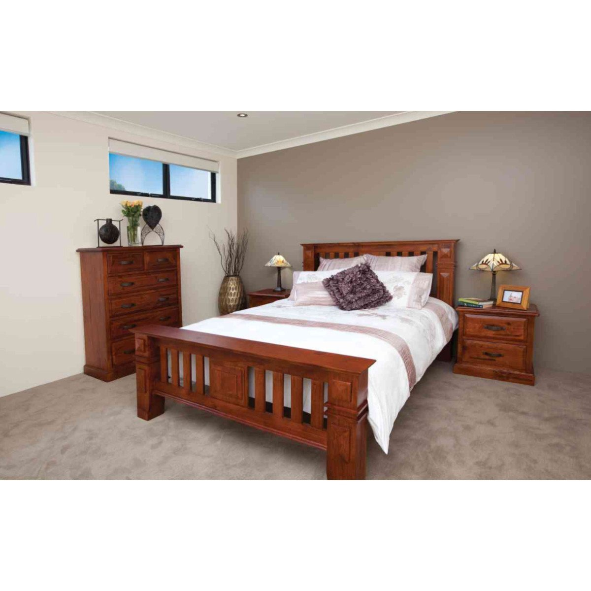 Cheap Bedroom Suites: Oxford Bed Suite With FREE Queen Innerspring Mattress