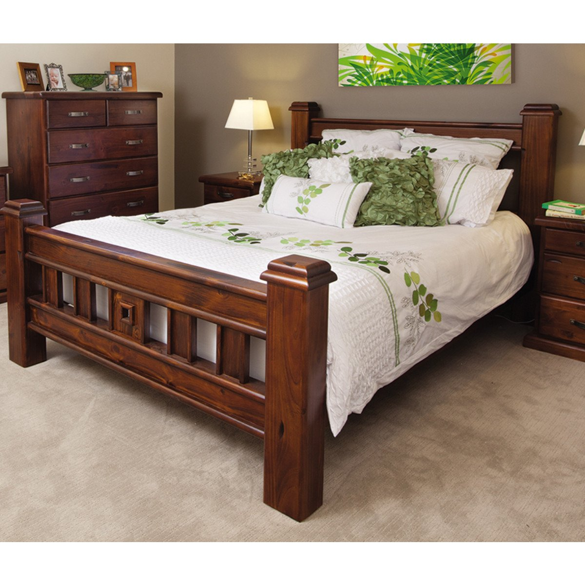 Description. Queen Package With Tallboy Includes 1x Queen Bed